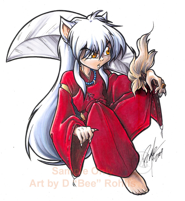 Inuyasha Sticker Colors01 By Bee Chan