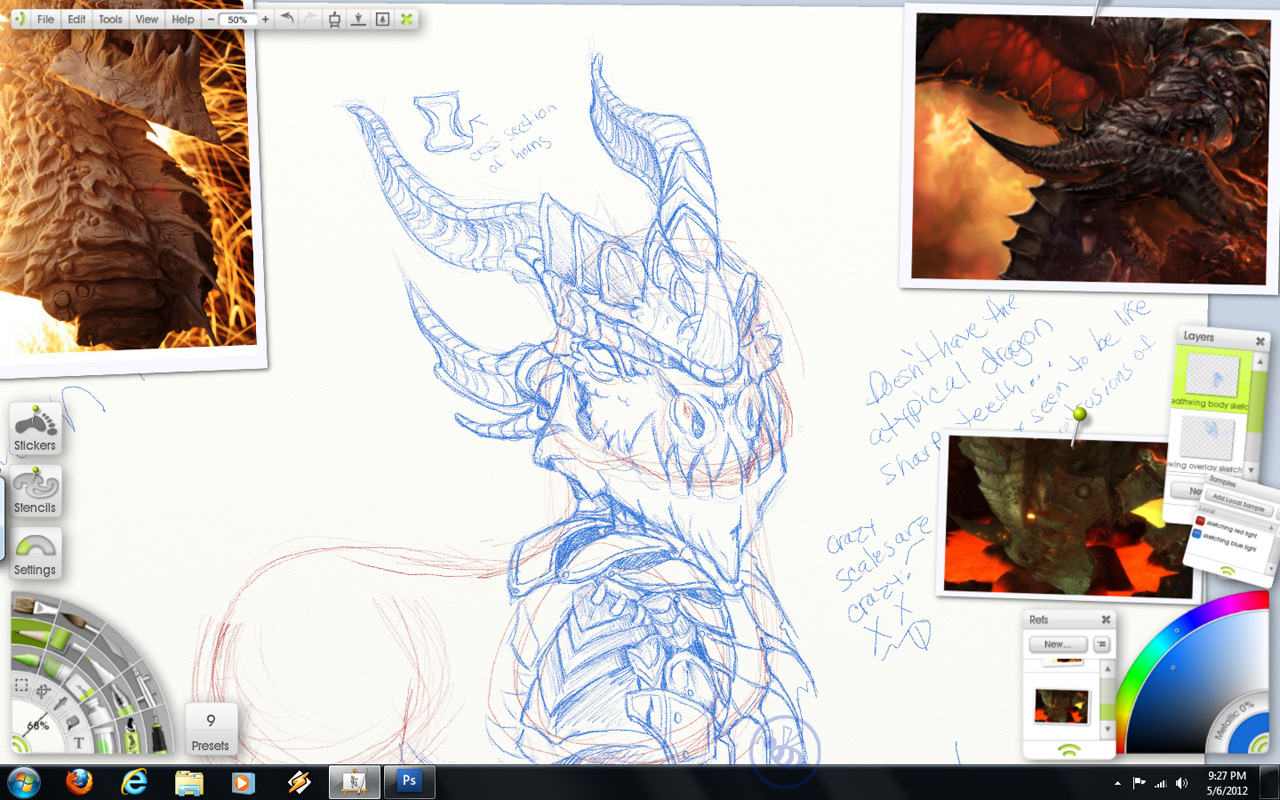 WoW Deathwing custom pony resculpt sketch design 1 by Bee-chan