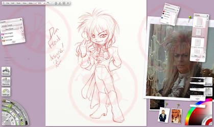 Chibi Jareth - Ballroom costume roughs by Bee-chan