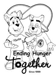 Scrunchy Bear Ending Hunger Together coloring page