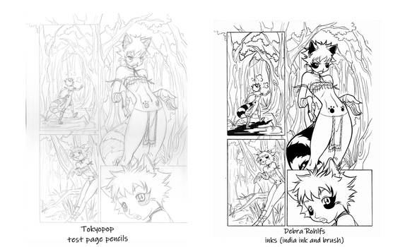 Tokyopop inkers test comparision