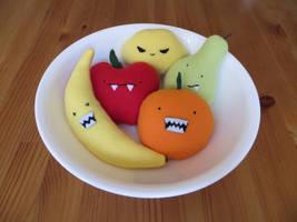 Bowl of Plush Monster Fruit