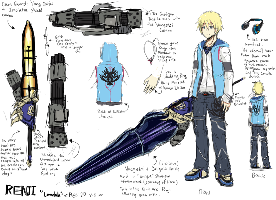 Renji--Leadah - God Eater 2 Concept by Gurrenken