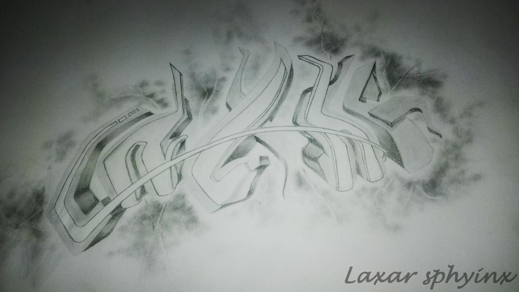 Graffiti Art Sketches 3d Sketch 3d Graffiti by Laxarart