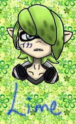 Lime Splatoon OC (old drawing)