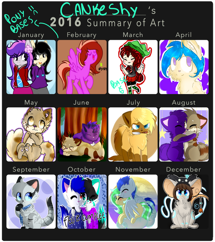 Cankeshy's 2016 Summary of Art by CankeShy