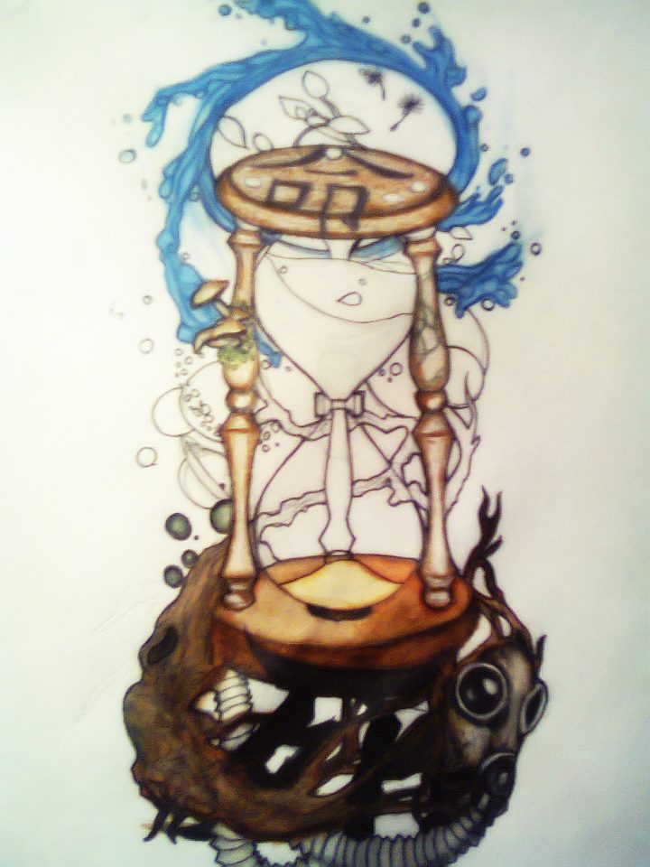 hourglass tattoo design by cerealkira on deviantart. Black Bedroom Furniture Sets. Home Design Ideas