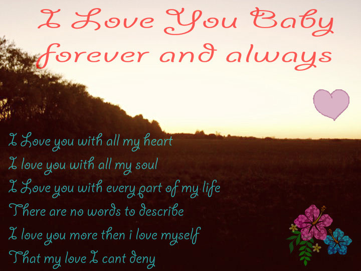 I Love You Baby Forever Poems