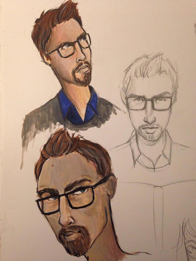 Guy in glasses  by LeanneEast