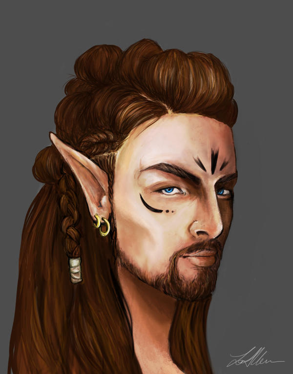 Male Wood Elf Concept Design By LeanneEast