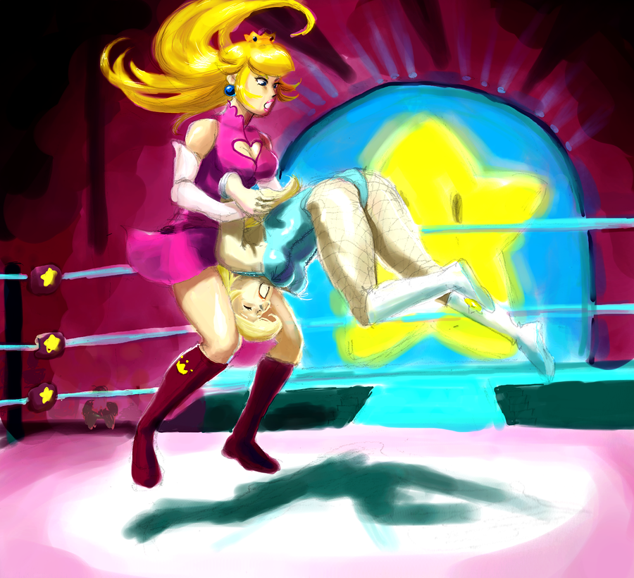Peach vs Rosalina 4 by MissTeaspoon