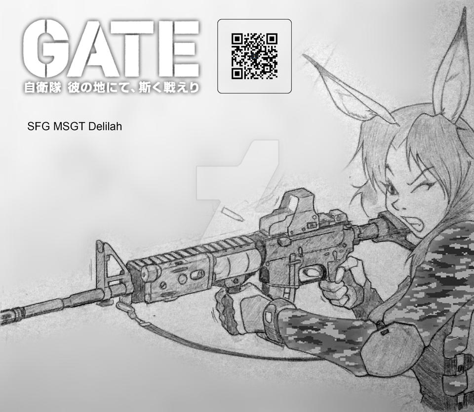 Warriors Gate 2 Film Online: Warrior Bunny Delilah GATE Fanart By Katmada20xx-V2 On