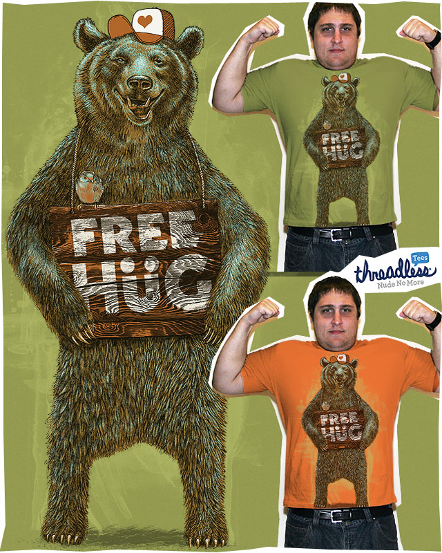 'free hug' at 'threadless' by dzeri