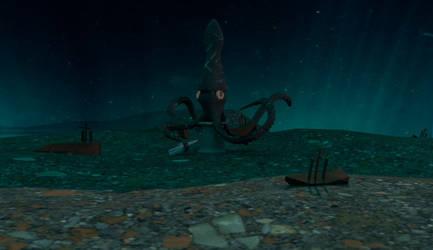 Kraken Chess Piece