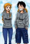 One piece - LuffyxNami Cool Sweaters