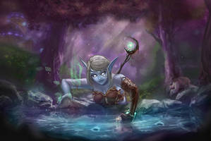 Night elf on a quest by RedCorpse-Dezzer