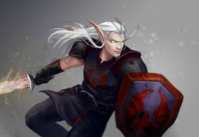 Blood elf in motion by RedCorpse-Dezzer