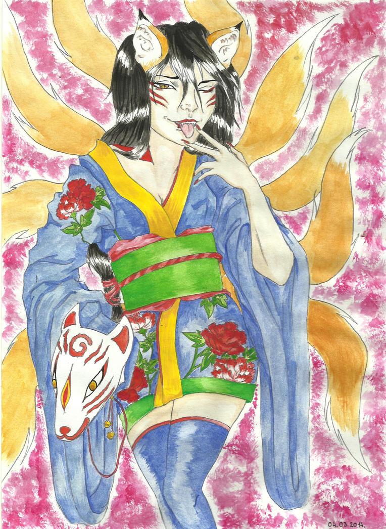 Kitsune youmu - collaboration by teika1997