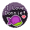 I Love Donnie: Round Stamp by KawaiiKittee88