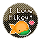 I Love Mikey: Round Stamp by KawaiiKittee88