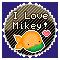 I Love Mikey: Round Stamp by KawaiiKittee88