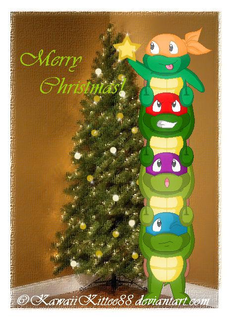 Ninja Turtle Christmas Tree.A Ninja Turtles Christmas By Kawaiikittee88 On Deviantart