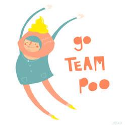 Go Team Poo by liljeska