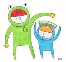 A Froggy and A Lotad by liljeska