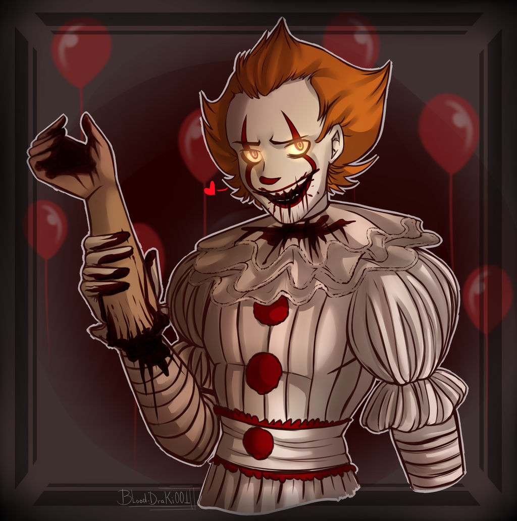 Pennywise Fan Art Eating Hand By Blood Draki001 On