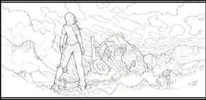 Remnant -panel05 'sketch' by Xeromander