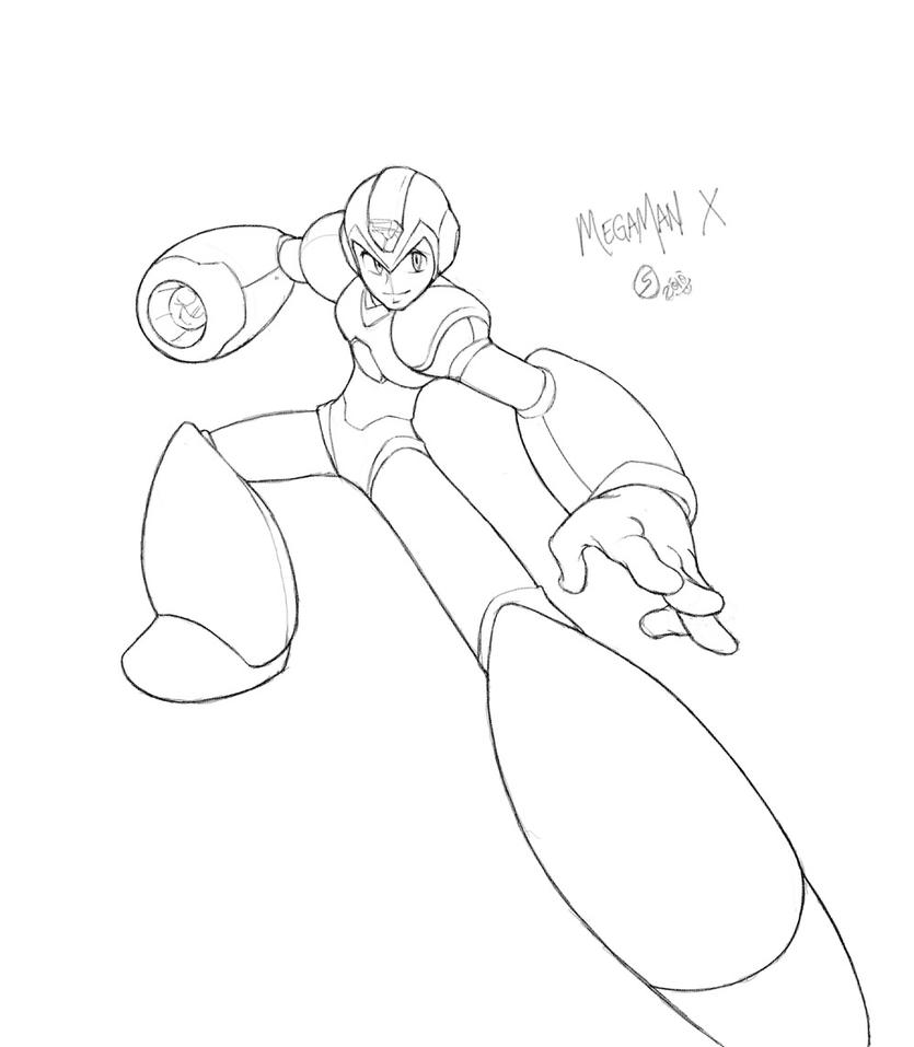 Drawing Lines With C : Zero from megaman free coloring pages