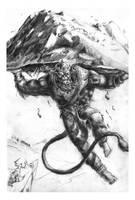Sketch Hanuman by toonrama