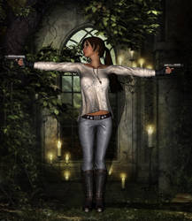 Lara croft test SissyB (Sylvie Conil) by Sissy-Baby