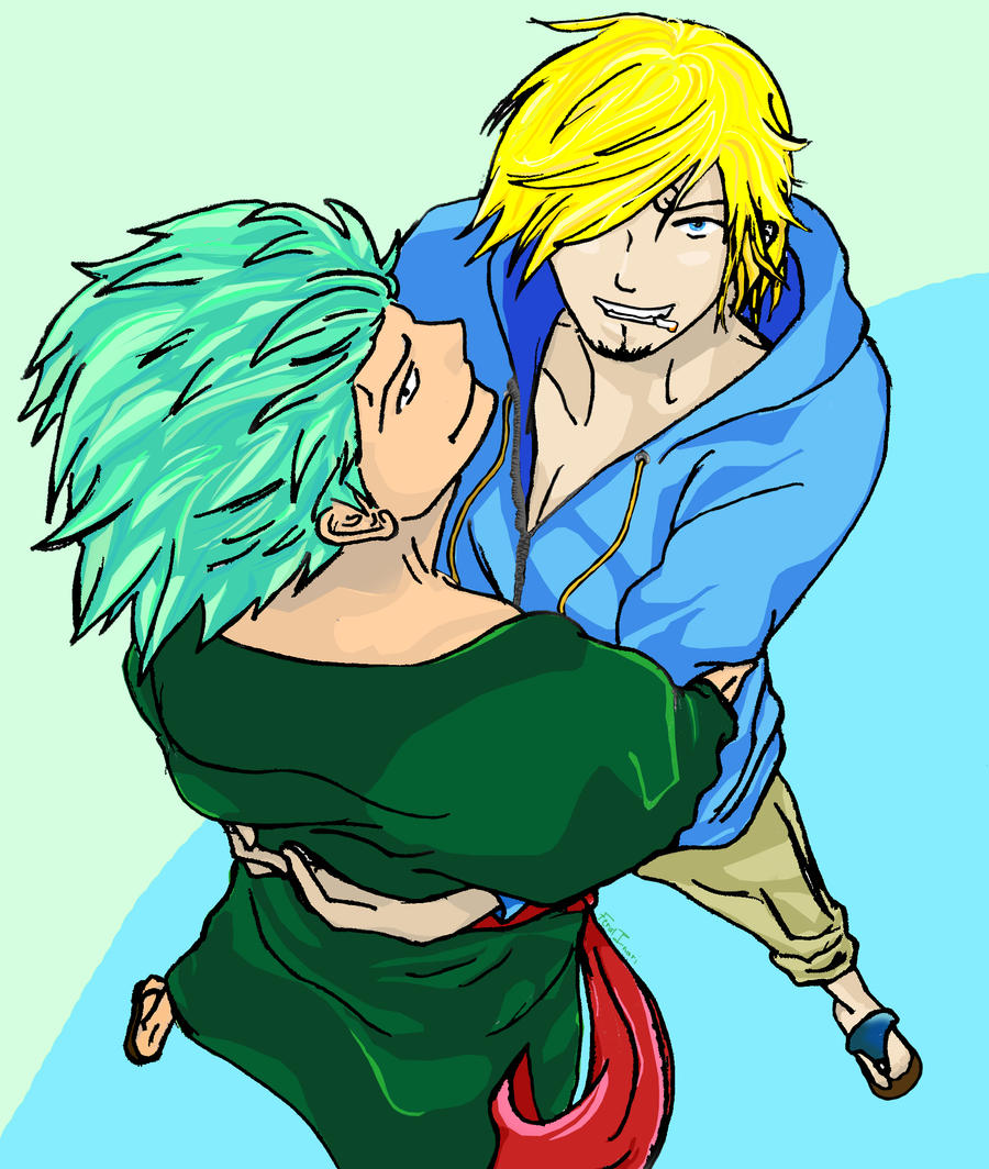 One Piece Zoro Wallpaper: Zoro + Sanji After 2 Year Gap By Feral-Inari On DeviantArt