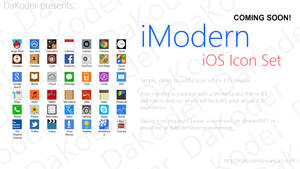 iModern iOS Icon Set - Preview