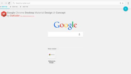 Google Chrome Desktop Material Design UI Concept