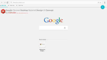 Google Chrome Desktop Material Design UI Concept