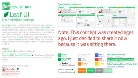 dA Flat Proposal/Concept - Leaf UI (Old)