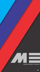 [MinFlat] BMW M Performance Mobile Wallpaper (2K)