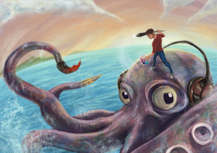 Creative Octopus by guilherme-batista
