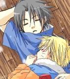 sleeping sasunaru by Yaoi-SasuNaru-FC