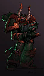 Chaos space marine colored