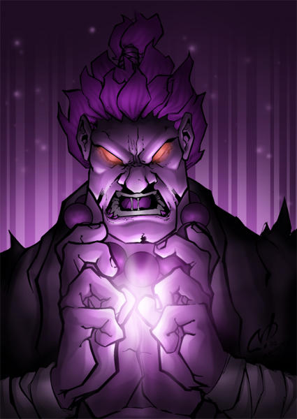 akuma pic colored by shalomone