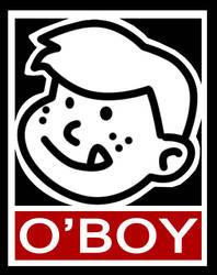 Oboy sticker by shalomone