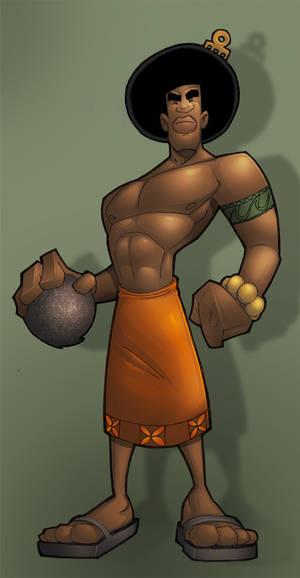 tyrannus's samoan dude colored