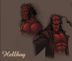 Hellboy colored by shalomone