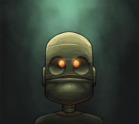 robot headshot by shalomone