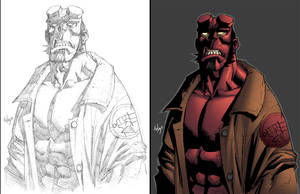 wya's hellboy in color by shalomone