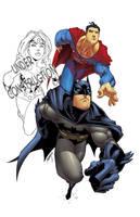 sup,bat and ww trio collab by shalomone