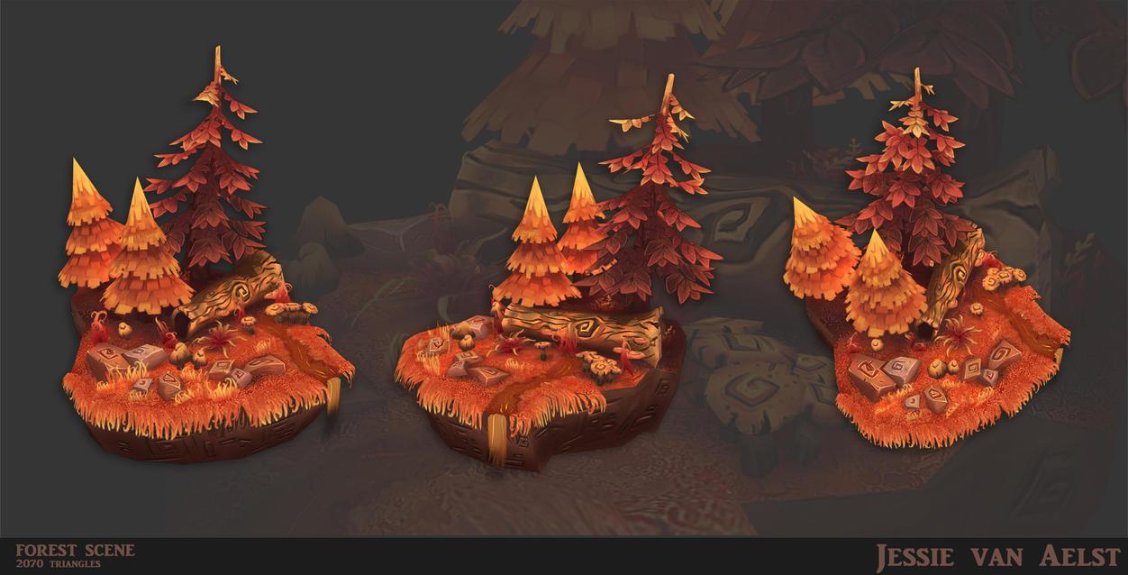 Forest Scene by sweetangel0467